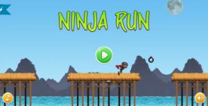 ninja run html5 mobile game